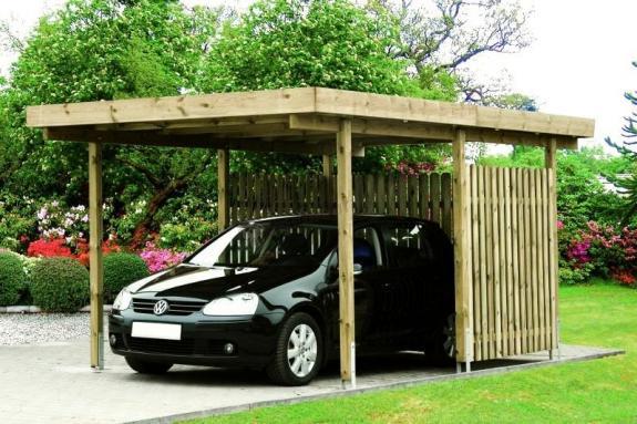 Zadaszenie z PVC garażu Monachium na jedno auto 4,5x5,5m