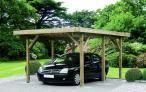 Garaż drewniany do samodzielnego montażu Dortmund 4,5x5m