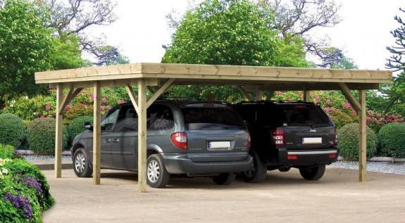 Dwustanowiskowy garaż drewniany do montażu Hanower 6x5m