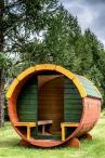 Drewniany domek ogrodowy dziecięcy BECZKA 230x160cm