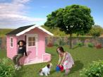 Domek drewniany dla dzieci do ogrodu IZA (2,4 m2)