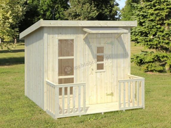 Drewniany domek dla dzieci JULIA 199x223cm (3,1 m2)