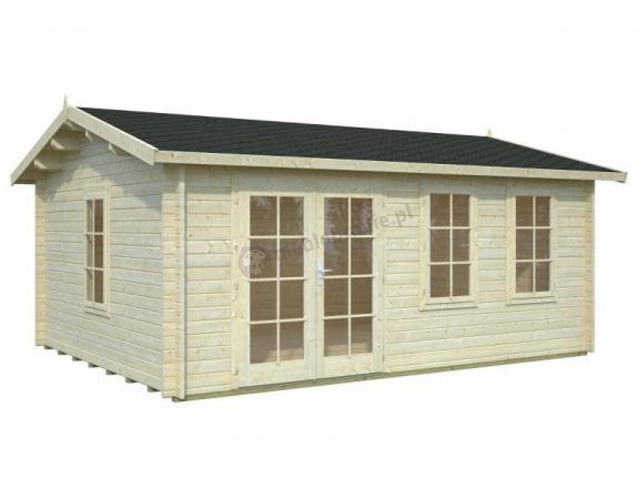 Drewniany domek ogrodowy JAREK C 5x4 (19,1 m2)