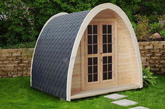 Drewniany domek ogrodowy na działkę BOBEK