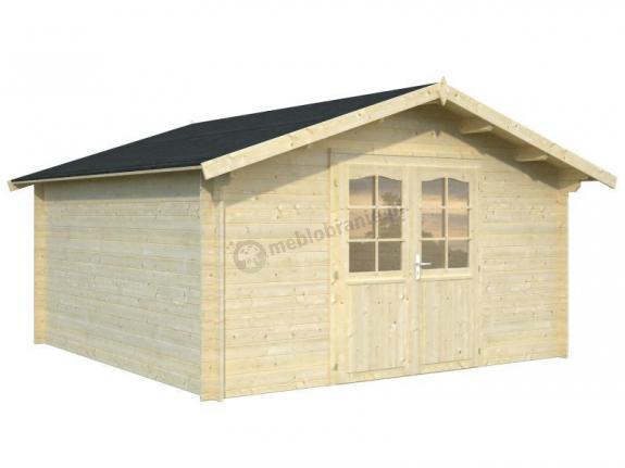 Domek drewniany na małą działkę ANDRZEJ C 4x4 (13,9 m2)