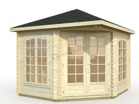 Drewniany domek ogrodowy letniskowy BASIA A 3x3 (6,8 m2)