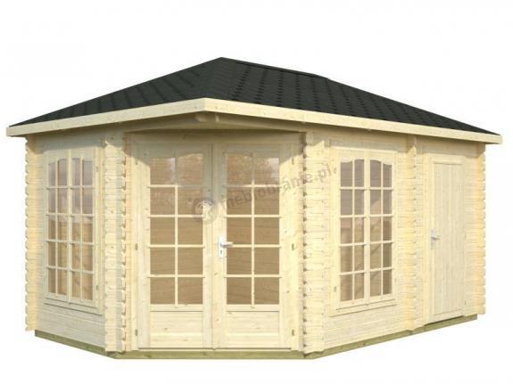 Drewniany domek na działkę letniskową BASIA C 4,5x3 (10,7 m2)