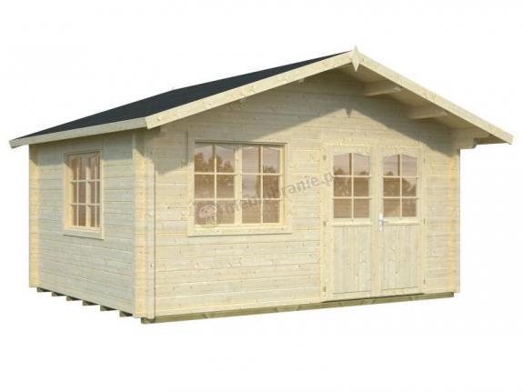 Klasyczny domek letniskowy z drewna EKO 129 5x5 (19,2 m2)