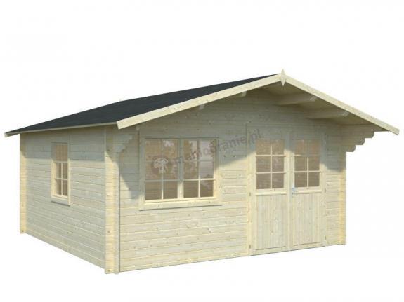 Domek ogrodowy drewniany MARCIN B 4,5x4,5 (17,5 m2)
