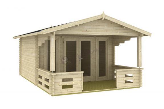 Domek ogrodowy z drewna DZIĘCIOŁ A 6x4 (19,8 m2)