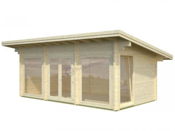 Letniskowy domek ogrodowy PATRYK A 6,5x3,5 (19,7 m2)