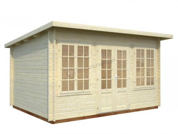 Mały domek ogrodowy drewniany KAMIL A 4x3 (11,5 m2)