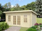 Drewniany domek ogrodowy KAMIL B 5x3,5 (14,2 m2)