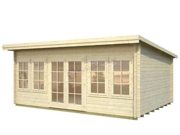 Drewniany domek na wąską działkę KAMIL C 5,5x4 (19,4 m2)