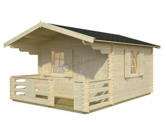 Drewniany domek z tarasem JACEK A3,5x5 (10,4+4,2 m2)