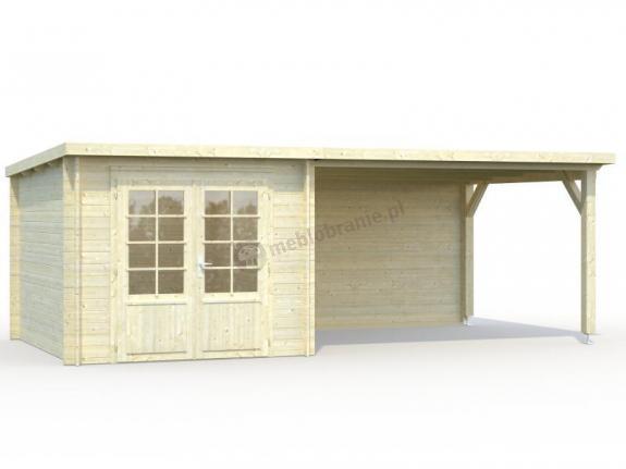 Mały domek drewniany na działkę ROBERT C 6x3 (6,9+10,0 m2)