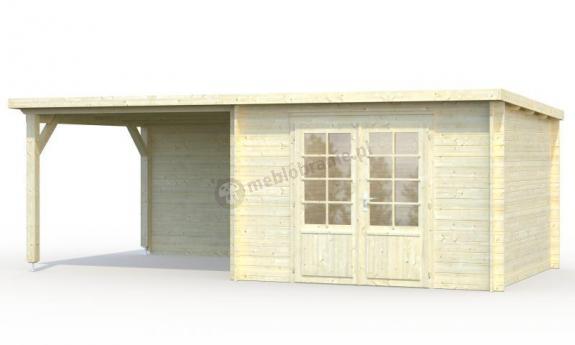 Mały drewniany domek na działkę ROBERT E 6x3 (8,7+8,2 m2)