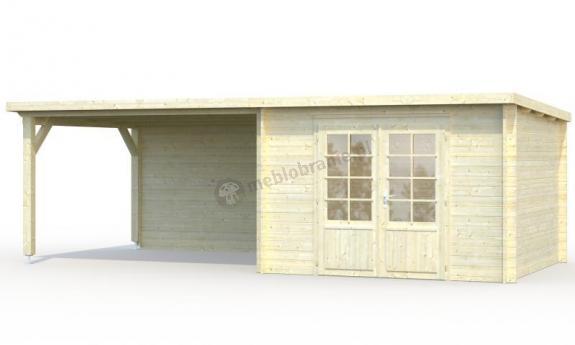 Domek letniskowy z drewna ROBERT F 7x3 (8,7+10,0 m2)
