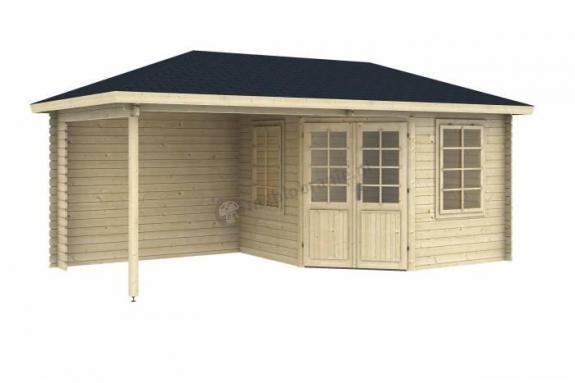 Mały domek letniskowy z drewna BEKASIK 6x3 (15,5m2)
