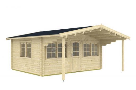 Wygodny domek z drewna na działkę ORZEŁ A 5x4 (17,26m2)