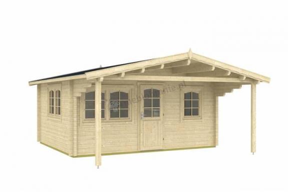 Letniskowy domek drewniany ORZEŁ B 5x4 (17,26m2)