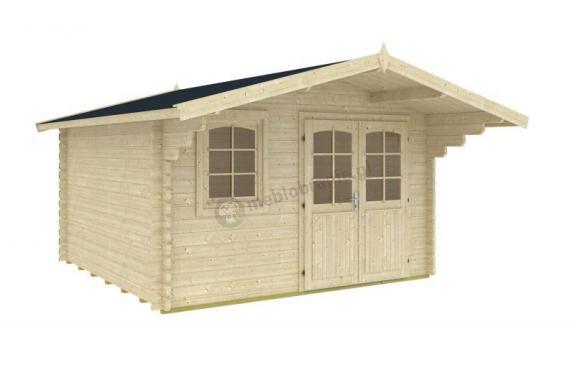 Klasyczny domek na działkę ogrodową KRZYŻÓWKA A 4x3 (10,3m2)
