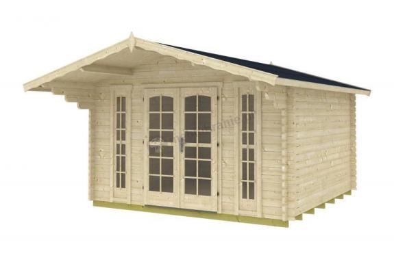 Letniskowy domek z drewna LELEK B 4x4 (12,4m2)