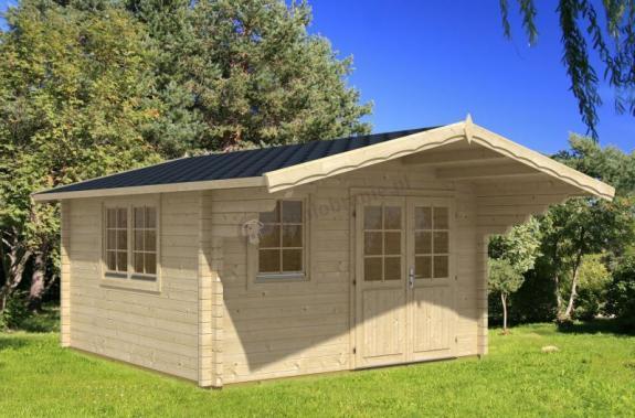 Drewniany domek na działkę MODRASZKA C 4x5 (17,56m2)