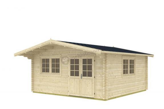 Domek drewniany na działkę MODRASZKA D 5x5 (22,29m2)