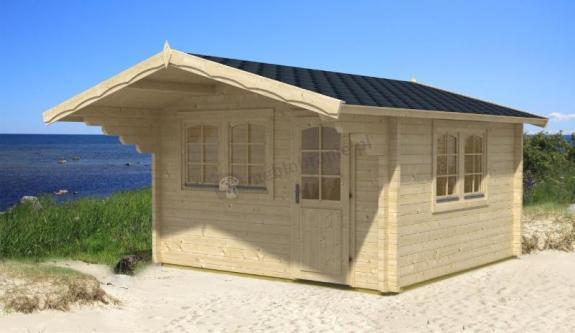 Domek na działkę ogrodową z drewna NURZYK 4x4 (12,1m2)