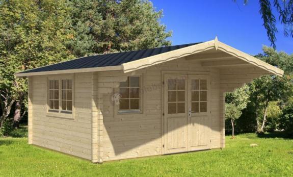 Mały domek na działkę z drewna ORLIK A 4x4 (10m2)