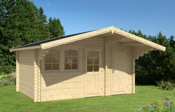 Letniskowy drewniany domek PELIKAN A 4,5x3 (11,7m2)