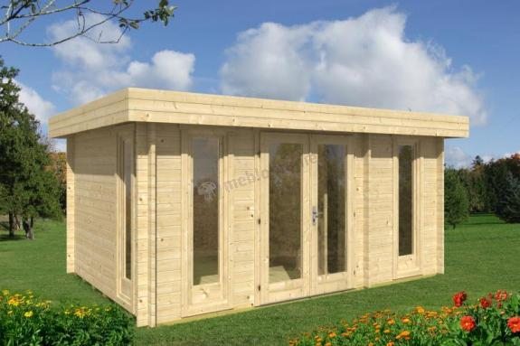 Nowoczesny domek drewniany na małą działkę KRUK E 5x3 (12,8m2)