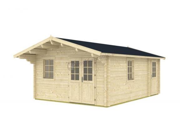 Mały domek letniskowy z drewna RUDZIK B 7x4,5 (24m2)