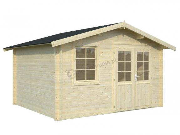 Drewniany domek na małą działkę TOMASZ B 4x3 (10,4 m2)