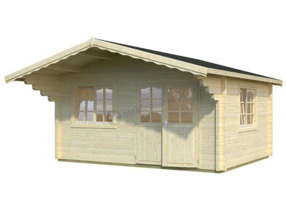 Letniskowy domek drewniany GRZEGORZ A 5x4 (15,1 m2)