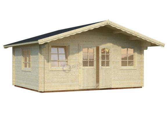 Domek z drewna na działkę GRZEGORZ B 5x4 (18,6 m2)
