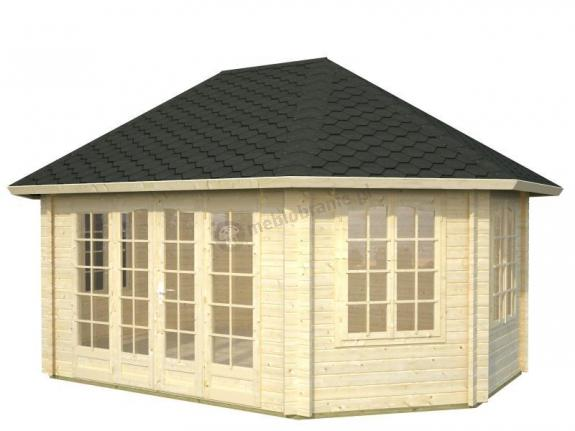 Elegancki drewniany domek na działkę ANNA C 4x6 (20,3 m2)