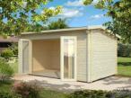 Domek drewniany na długą działkę DARIUSZ 5x3 (13,7 m2)