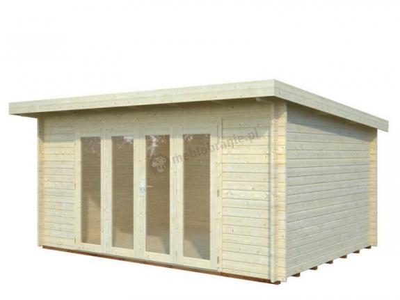Drewniany domek nowoczesny na działkę FRANEK 5x3,5 (19,2 m2)