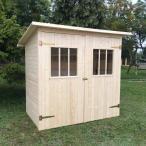 Drewniany domek narzędziowy do ogrodu Zimowit