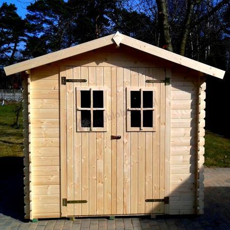 Domek na narzędzia z drewna Bławatek 216x216