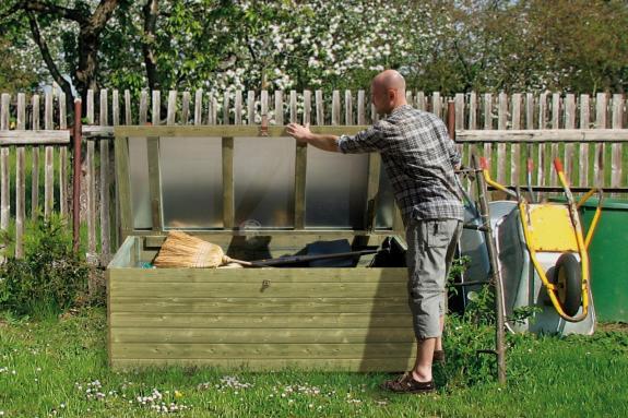 Skrzynia ogrodowa z drewna KDI 190x80