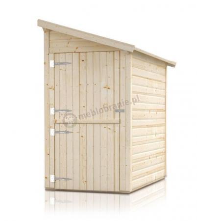 Drewniany schowek ogrodowy przyścienny Klon 120x250