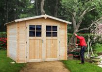 Ogrodowy domek drewniany na działkę Złocień 266x266