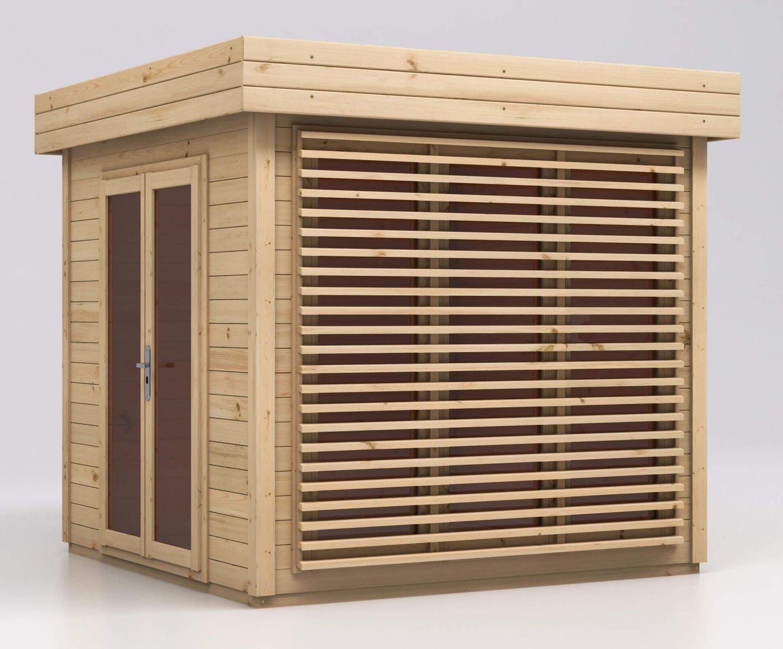 Drewniany Domek Do Ogrodu Malowany Lawenda