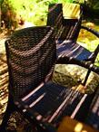 Wykończenie krzesła Bali Mono w kolorze brązowym