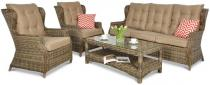 Trivento 3 Brown (sofa 3-osobowa) meble technorattanowe