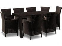 Meble ogrodowe dla 8 osób z dużym stołem Melody 8Y cappuccino