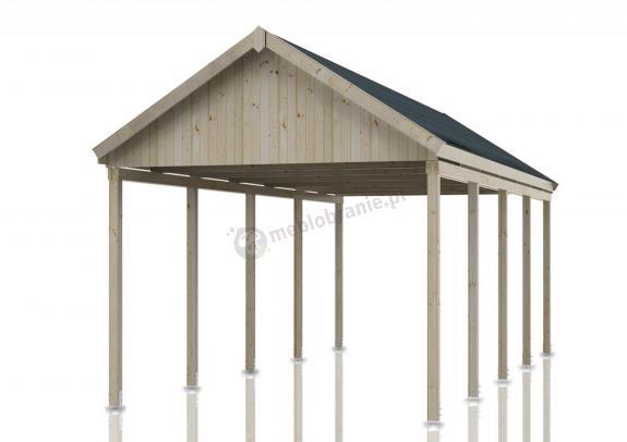 Drewniana wiata samochodowa Konwalia 346x855